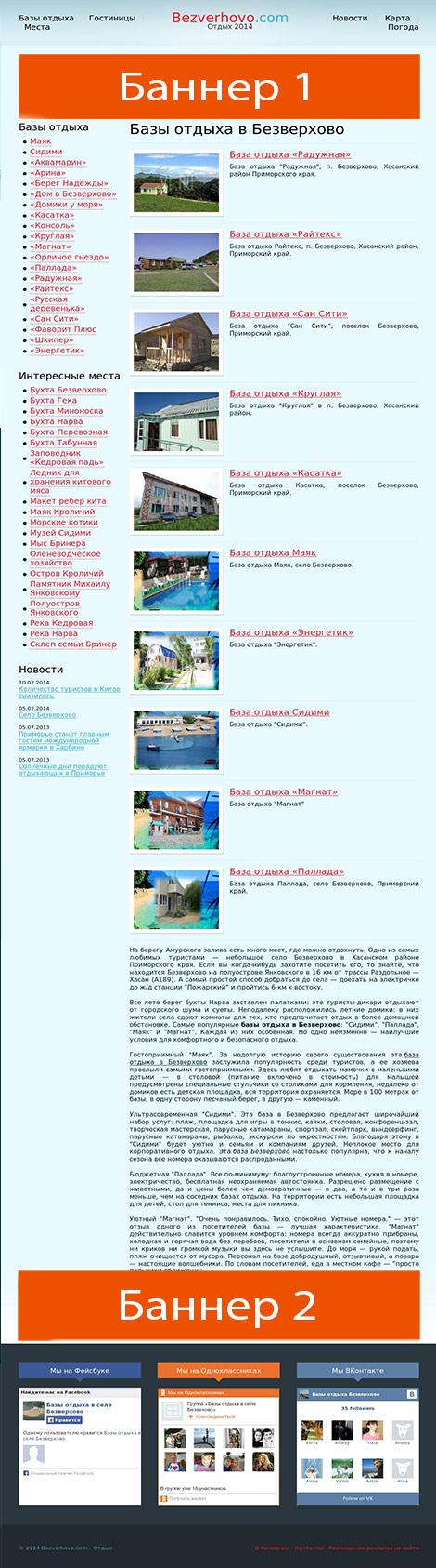 схема размещения рекламы на сайте bezverhovo.com  height=